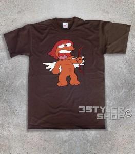 eros t-shirt uomo raffigurante l'amico di pollon