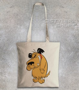 muttley borsa shopper con immagine al tutta altezza di Muttley che ride