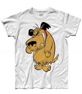 muttley t-shirt uomo con immagine al tutta altezza del cane che ride