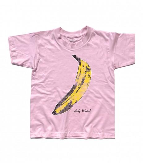 banana t-shirt bambino andy warhol
