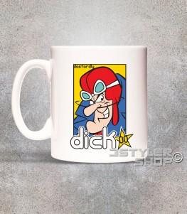 Dick Dastardly tazza mug raffigurante il cattivo delle Wacky races e amico di Muttley