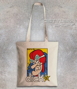 Dick Dastardly borsa shopper raffigurante il cattivo delle Wacky races e amico di Muttley