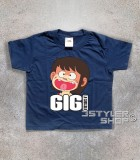gigi la trottola t-shirt bambino con immagine di gigi e scritta