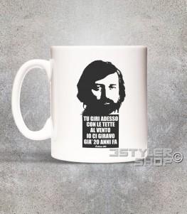 guccini tazza mug con frase tratta dalla canzone eskimo