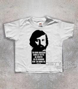 guccini t-shirt bambino con frase tratta dalla canzone eskimo