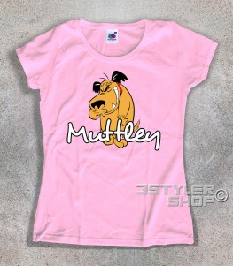 muttley t-shirt donna con l'immagine di Muttley e scritta