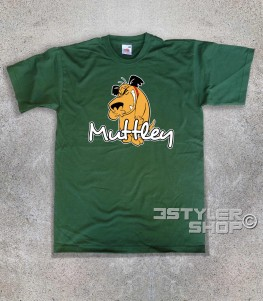 muttley t-shirt uomo con l'immagine di Muttley e scritta