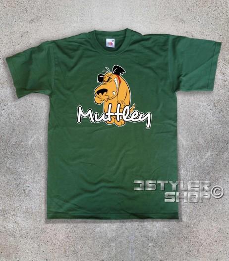 muttley t-shirt uomo con l'immagine di Muttley e scritta