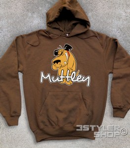 muttley felpa unisex con l'immagine di Muttley e scritta
