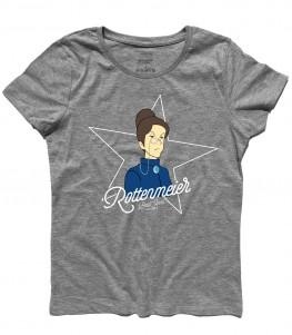rottenmeier t-shirt donna raffigurante la governante di Heidi Clara