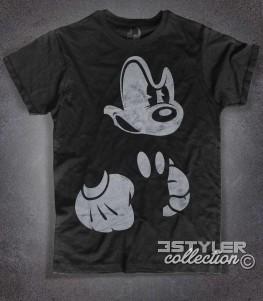 topolino arrabbiato t-shirt uomo nera angry mickey mouse