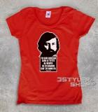 guccini t-shirt donna con frase tratta dalla canzone eskimo