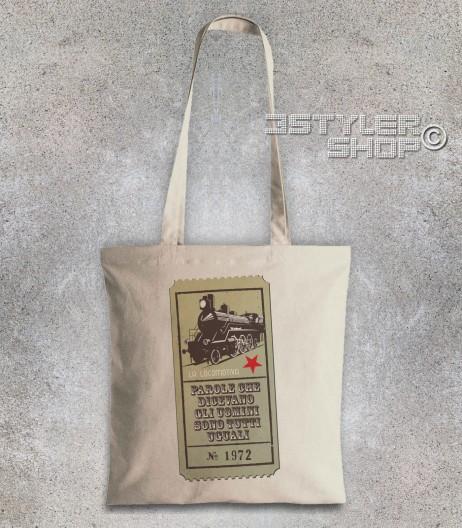 Guccini borsa shopper con scritta