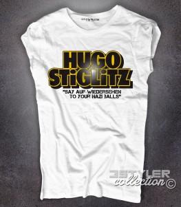 bastardi senza gloria t-shirt donna con scritta hugo stiglitz