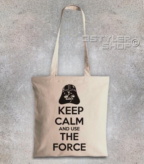 keep calm star wars borsa shopper con scritta keep calm and use the force