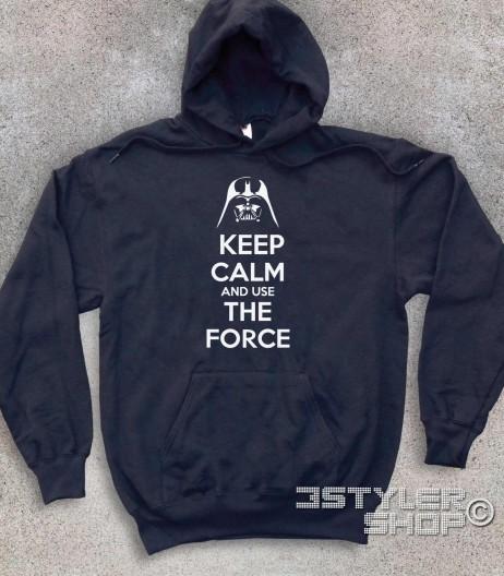 keep calm star wars felpa unisex con scritta keep calm and use the force