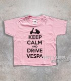 keep calm vespa t-shirt bambino con scritta keep calm and drive vespa