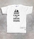 keep calm vespa t-shirt uomo con scritta keep calm and drive vespa