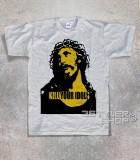 kill your idols T-shirt uomo grigia stampa immagine Gesù e scritta kill your idols
