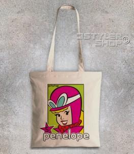 penelope pitstop borsa shopper raffigurante la bionda protagonista delle wacky races