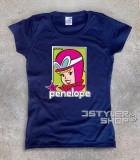 penelope pitstop t-shirt donna raffigurante la bionda protagonista delle wacky races