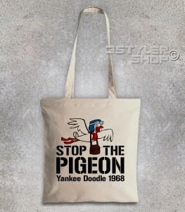 stop the pigeon borsa shopperraffigurante il piccione yankee doodle