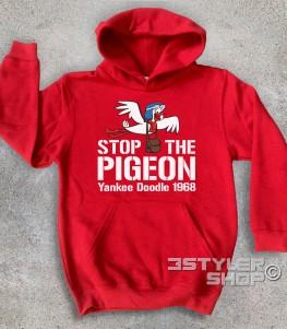 stop the pigeon felpa bambino raffigurante il piccione yankee doodle