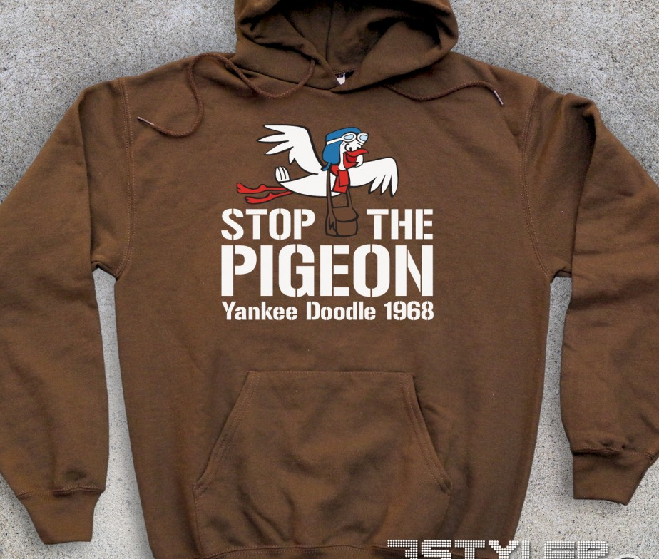 Stop the pigeon felpa unisex yankee doodle