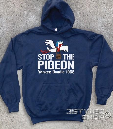 stop the pigeon felpa unisex raffigurante il piccione yankee doodle