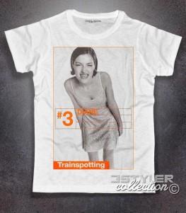 trainspotting t-shirt uomo bianca raffigurante il personaggio del film diane
