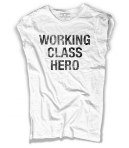 working class hero t-shirt uomo con scritta