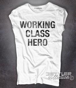 working class hero t-shirt donna con scritta