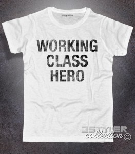 working class hero t-shirt uomo con scritta