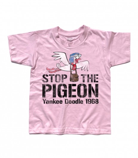 stop the pigeon t-shirt bambino raffigurante il piccione yankee doodle