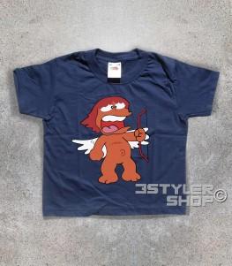eros t-shirt bambino raffigurante l'amico di pollon