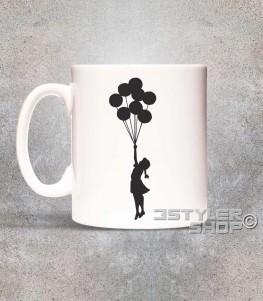 balloon girl tazza mug palestine bambina con i palloncini