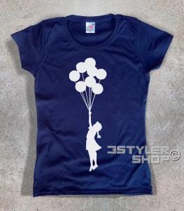 balloon girl t-shirt donna palestine bambina con i palloncini