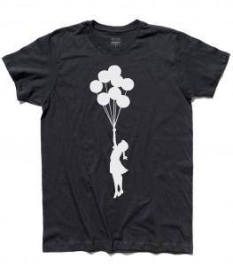 balloon girl Palestine t-shirt uomo banksy