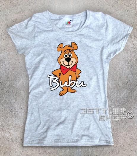 bubu t-shirt donna raffigurante l'orsetto amico dell'orso Yoghi