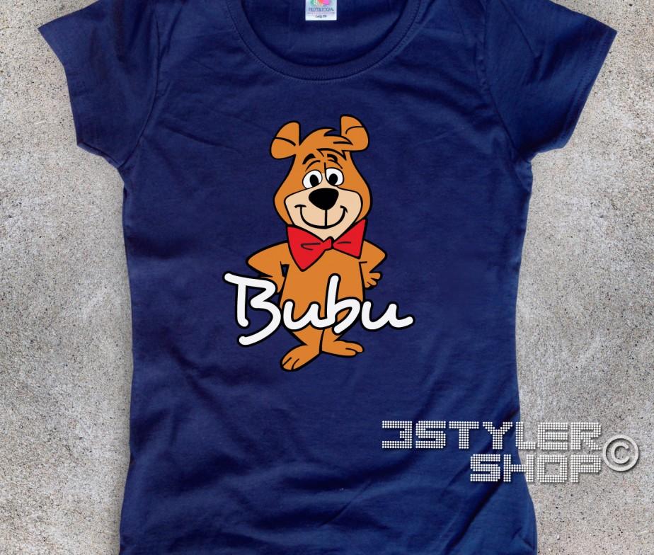 Bubu t shirt donna lamico dellorso yoghi