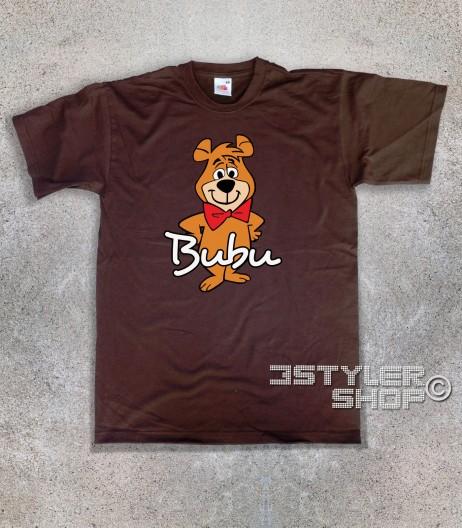 bubu t-shirt uomo raffigurante l'orsetto amico dell'orso Yoghi