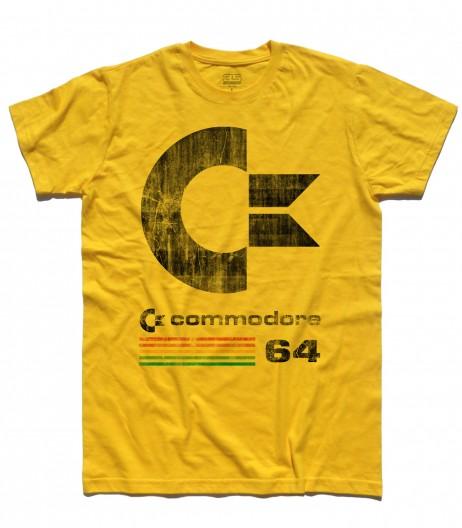commodore 64 t-shirt uomo con logo antichizzato