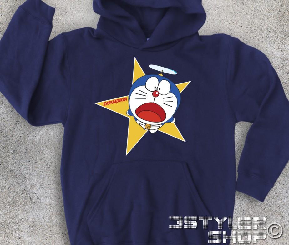 Doraemon felpa bambino gatto spaziale for Felpa con marsupio porta gatto