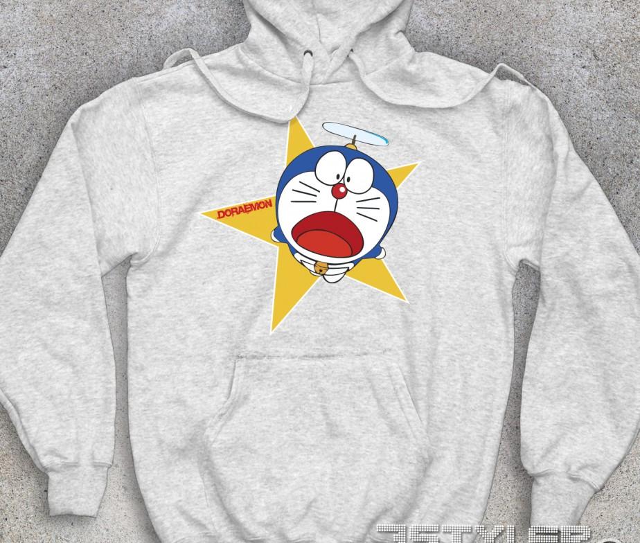 Doraemon felpa unisex gatto spaziale for Felpa con marsupio porta gatto