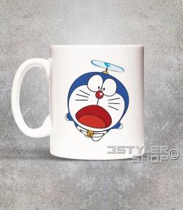 doraemon tazza mug raffigurante il gatto spaziale blu con l'elica