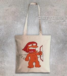 eros borsa shopper raffigurante l'amico di pollon