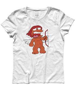 eros t-shirt donna raffigurante l'amico di pollon