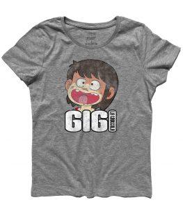 gigi la trottola t-shirt donna con immagine di gigi e scritta