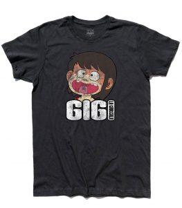 gigi la trottola t-shirt uomo con immagine di gigi e scritta