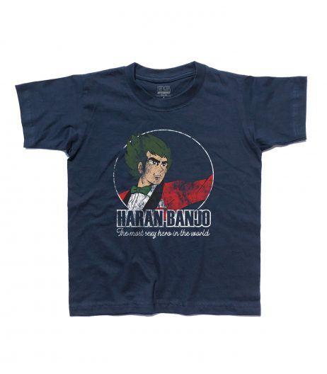 haran banjo t-shirt con scritta the most esxy hero in the world